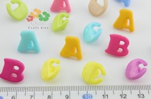 800pcs kawaii ABC plastic shank Buttons sewing craft diy buttons cabochon beads for children novelty project 14mm(China)
