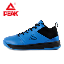 PEAK SPORTS Authent Men Basketball Shoes Comfortable Breathable Ankle Boots REVOLVE Tech Durable Rubber Outsole Sport Sneakers