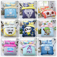 Student Kid Boy Girl Cute Animal 3pcs 4pcs Bedding Set King Queen Double Single Size Duvet Cover 1.5m 1.8m 2m Bed Sheet Bedlinen(China)