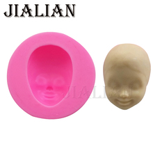 Baby face Silicone Mold Cake Chocolate Candy Jelly Baking Mold Fondant Cake Decorating COOKING Tools clay/rubber T0885(China)