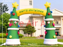 archway air blown inflatable Christmas prop inflatable Christmas tree arch