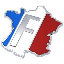 3D Aluminum France Flag Car Sticker Accessories Stickers for Renault Peugeot Citroen Cruze Chevrolet Ford Focus VW Golf Benz BMW