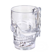 Plastics ABS Beer Cup Skull LED Inductive Rainbow Color Flashing Light Glow Mugs For Party Bar Home Mugs Drinkware Unique Gift(China)