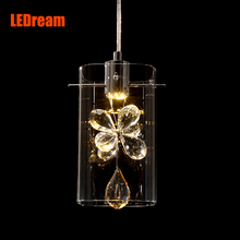 Contemporary restaurant droplight european-style individuality creative meals chandeliers three led crystal droplight