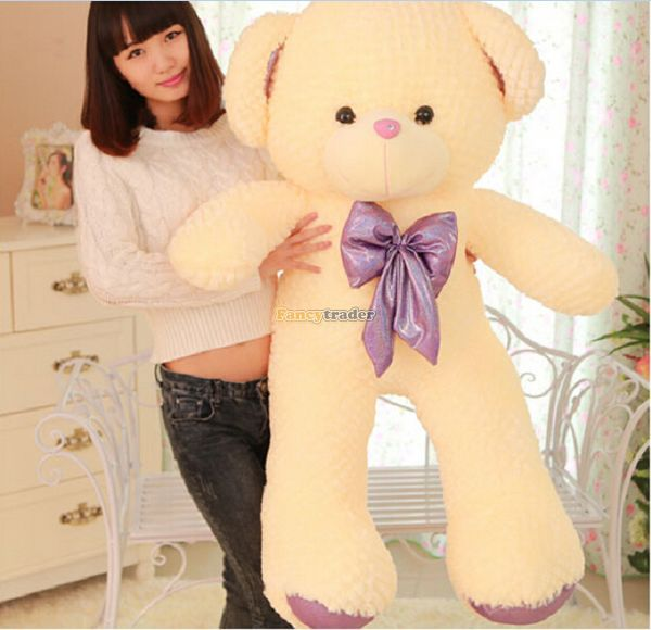 Fancytrader 47 / 120cm Lovely Soft Plush Giant Teddy Bear Toy, 2 Colors Available! Nice Gift for Child, Free Shipping FT50096<br><br>Aliexpress