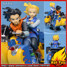 "100% Original MegaHouse DESKTOP REAL McCOY Complete Figure - Android No.17 & 18 ver.4 from ""Dragon Ball""(China)"