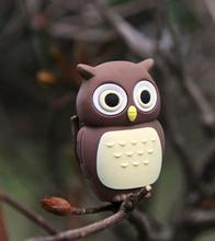 cute annimal Cartoon owl USB flash pen drive 8g 32g 64g Memory Stick 4g 16g Thumb/Pendrive U Disk creative Gift(China)