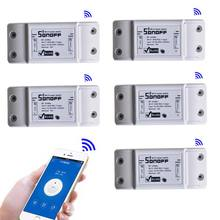 Sonoff Wifi Smart Wireless Switch DIY Home Automation Modules with timer on off switch Smart remote control 10A 5pcs/lot