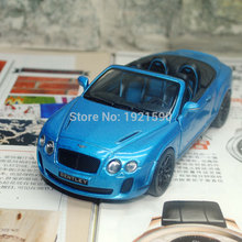 Brand New KT 1/38 Scale UK 2010 Bentley Continental Supersports Convertible Diecast Metal Pull Back Car Model Toy