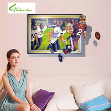 Hot Sale Rugby Wall Stickers 3D Creative Home Decor American Football Wall Murals Living Room PVC Stickers Free Shipping