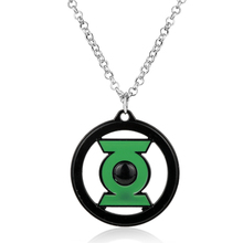 Hot Comic Anime Necklace Green Lantern Pendant Necklace Men's Jewelry Long Chain collier collar vintage ornaments For Men Gift(China)