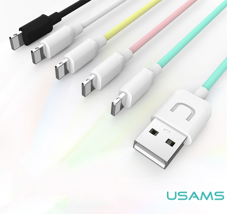 USAMS Brand U-Turn Series 8 Pin Fast Charge Cable iPhone X / iPhone 8 7 Plus 6s 6 Plus Stable Data Transfer USB Phone Cables