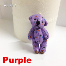 AOSST 4.5 cmJoint bear little teddy bear some fabric joint bear doll accessories toys