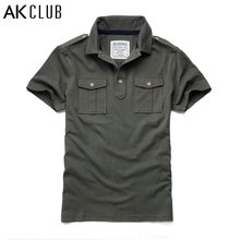 AK CLUB Brand Polo Shirts 100% Cotton Polo Shirt New Double Jetted Pocket Short Sleeve Polo Shirt For Men Men Polo Shirt 1516008