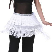 Belly Dance Belt for Women Waistband 3 Layers Tassel Belly Dance Hip Scarf Skirt Scarf Wrap Performance Dance Clothing Accessory(China)