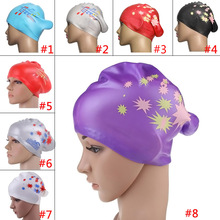 New Note Star Type Silicone Swimming Long Hair Ear Wrap Waterproof Swimming Caps BB55
