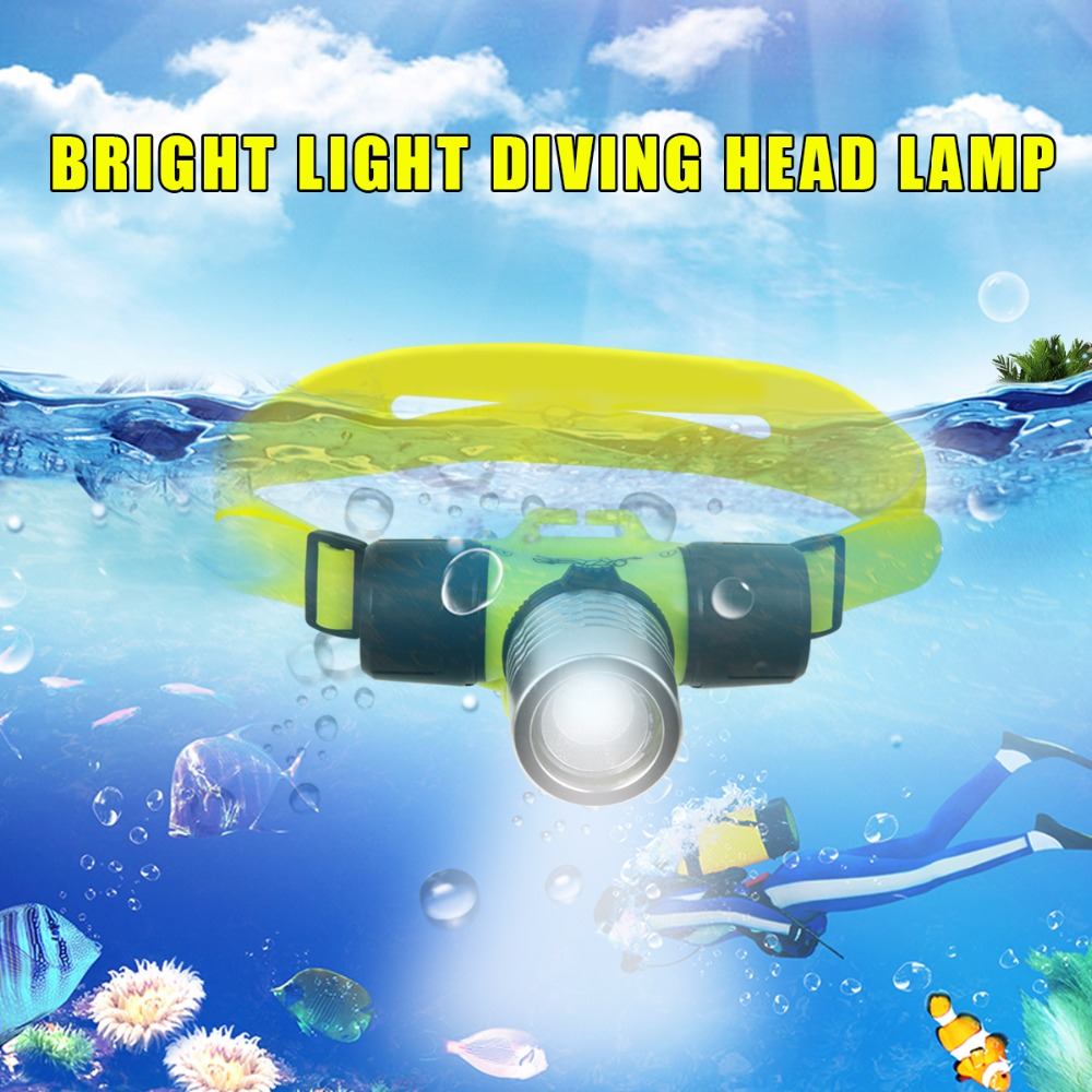 Uvistare Q1 Waterproof Underwater 1000 Lumen XM-L XML T6 Headlamp 60m Swimming Diving Headlight Dive Head Light Torch Lamp<br><br>Aliexpress