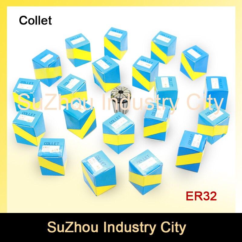CNC Spindle motor tool holder  ER32 collet chuck full set 21 pcs from 2 mm to 20 mm for CNC engraving milling spindle motor !<br>