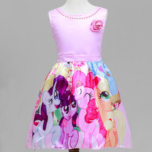 2017 Children's Clothes New Summer Dresses Roses Cartoon Treasure Princess Dress Christmas Hello Kitty Costumes For Kids Clothes
