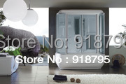 luxury steam shower enclosures bathroom steam shower cabins jetted massage walking-in sauna rooms RS8002(China)