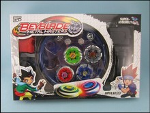Free shipping! Classic toys beyblade metal fusion spinning top gyroscope 4 beyblade for sale alloy gyro plate kit beyblade sets