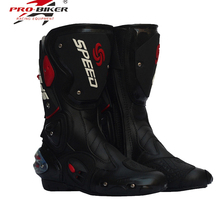 PRO-BIKER SPEED BIKERS Motorcycle Boots Moto Racing Motocross Off-Road Motorbike Shoes Black/White Size 40/41/42/43/44(China)