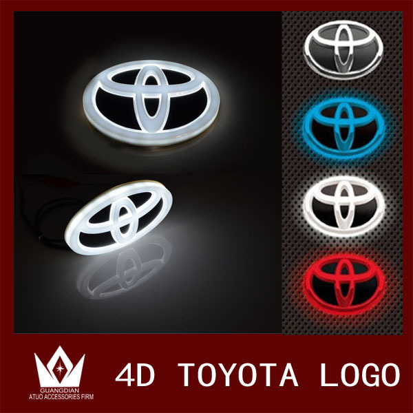 Guang Dian car light Logo badge front 12*8cm Original emblem Chrome For Collar For New Crown For New VIOS<br><br>Aliexpress