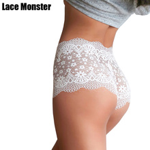 Buy Sexy lace transparent hollowed panties High quality exquisite underwear women briefs slimming hip-lifting breathable lingerie