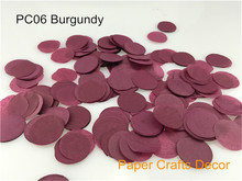 1inch=2.5cm 30g/bag Burgundy Round Tissue Paper Confetti Wedding Party Table Decorations Balloon Kit