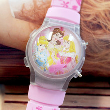 10PCS/LOT Princess New Children Digital Watches Cartoon Design Girl's Flashing Wristwatches Hot Kid Sports Watches Free Shipping