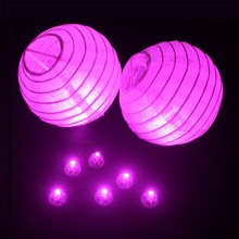 100 Pcs/lot Round Pink Color Ball Led Balloon Lights Mini Flash Lamps for Lantern Christmas New Year Wedding Party Decoration(China)