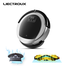 2018 LIECTROUX Robotic Vacuum Cleaner B6009, 2D Map & Gyroscope Navigation,home withMemory,Virtual Blocker,HEPAfilter water tank(China)