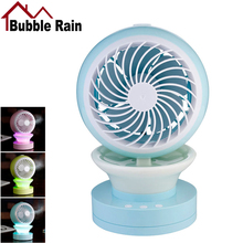 Bubble Rain A54 Portable Outdoor Mini Fans with LED Lamp USB Table Rechargeable Fan Support Humidifier Air Conditioner Cooler