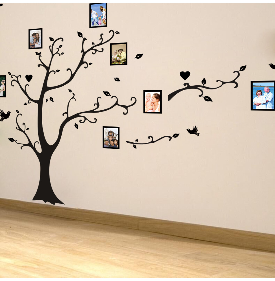 HTB1af2amYsTMeJjSszhq6AGCFXaO - Large size 200*260cm colorful DIY photo vinyl tree family wall decal for living room