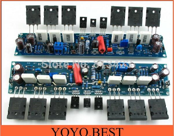 NEW L10 Audio Stereo Power Amplifier board DIY kit 2.0 channel 1943 5200 2pcs<br><br>Aliexpress
