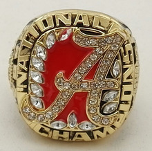Factory Direct Sale 2009 Alabama Crimson Tide National Championship Ring stainless steel ring
