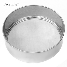 Facemile 1PCS Stainless steel sieve cup screen mesh powder flour sieve tamizadoras harina taza cake decorating tools