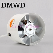 "DMWD 4 inch kitchen toilet exhaustfan 4"" louver window exhaust fans 2585RPM air ventilation draft Blower Windows metal exhauster(China)"