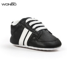 8colors WONBO New Autumn baby moccasins infant anti-slip PU Leather first walker soft soled Newborn 0-1 years Baby shoes