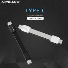 Momax Short High Speed Type C to Type C Male Cable for Samsung S8 Xiaomi Reversible Connector Mobile Phone Cable Charging Sync(China)