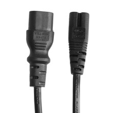 IEC 320 2-Pin C7 Female To C8 Male Figure 8 Power Adapter Extension Cable 5M