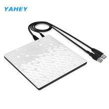 Yahey Touch Control USB 3.0 Ultra Slim Portable CD-ROM Optical Drive External DVD+/-RW Burner Writer Player for Computer Macbook