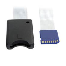 CY Standard SD SDHC Memory Card Kit Male to SD Female Extension Soft Flat FPC Cable Extender 25cm