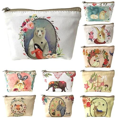 Cute Children Kids Animal Pattern Canvas Zipper Coin Purse Wallet Bag Gifts<br><br>Aliexpress