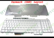 New Laptop keyboard for Dell for Inspiron 1720 1721, Vostro 1700, XPS M1730 Silver Danish Danmark (DAN) version - 0DY698