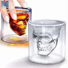 1PC Skull Head Shot Glass Fun Doomed Transparent Party Beer Glass Drinkware Gift Wine Drinking Glass