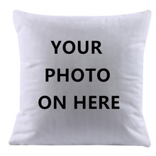 2017 Design Picture here Print, Pet ,wedding personal life photos customize gift home cushion cover pillowcase capa de almofadas(China)