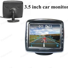 car monitor small display 3.5 inch digital color TFT lcd for universal vehicle reversing parking backup rear view camera