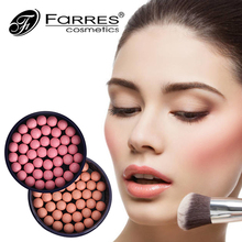 FaRRES Brand Professional 6 Colors Long Lasting Blusher Balls Oil-control Base Contouring Makeup Blush Powder Beauty Maquiagem(China)