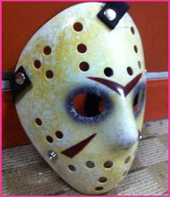 Black Friday NO.13 Jason Voorhees Freddy hockey Festival Party Full Face Old Mask With Nose 100gram PVC For Halloween Masks
